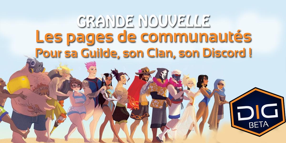 Pages de communautés de joueurs
