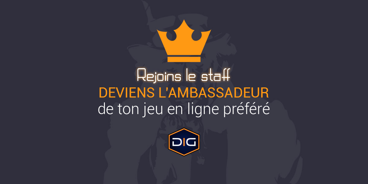 Rejoins le staff de DropinGame : deviens l'ambassadeur d'un jeu !