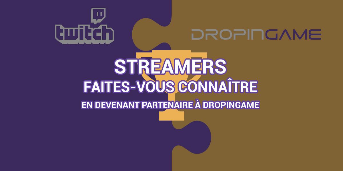 Devenez un streamer partenaire à DropinGame