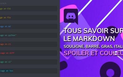 Tout sur le markdown discord : bases, spoiler et couleur dans les messages